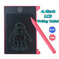 Wholesale mini lcd boards - Mini Memo Board Blackboard Drawing Board 4.4inch LCD Writing tablet Graphics Tablets & Pens For work office & study For child toy gift