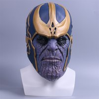 Wholesale Avengers Movie Props - The Avengers Thanos Cosplay Mask Adult Full Head Latex Thanos Helmet Halloween and Christmas Party Mask Props