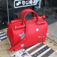 bolsos estrella al por mayor-STAR PU Messager Bag - Bolsos de hombro con bandolera cruzados casuales para mujer Bolsos
