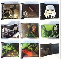 Wholesale Wholesale Gifts For Students - Star Wars wallets Star wars purse Cartoon students wallet Fashion wallets for men card holder Fashion comics wallets Xmas gift D182 20PCS