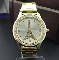 Wholesale Gilded Watch - Hot Eiffel Tower in Paris fashion students watch female models fashion gilded table wholesale spot