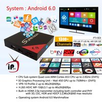 E8 Amlogic S905X Quad Cavo Android IPTV Box Supporto ARABIC IPTV Italia SKY Sport CINENA UK DE Francese Turchia 2700 + Canali M3u Telefono tv box