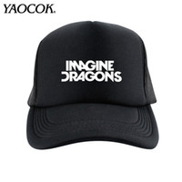 Wholesale Dragon Rain - Wholesale Fashion Casual Hip Hop Logo Custom imagine dragons Punk Rock Band Cool Mens Knit Hats And Snapback Caps Sport Brand Winter