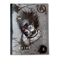 Wholesale Tattoo Book Flash Dragons - Wholesale-2016 New Tattoo Book Skull Unicorn Dragon Beast Geisha Death God Tattoo Designs for Back Tattoo Flash Book Tattoo Sketchbook A4