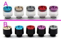 Wholesale Bear Filters - Aluminium with Acrylic 7 holes 510 Drip Tips filter Wide Bore Drip Tips Colorful Drip tip fit 510 Subtank RBA RDA Atomizers