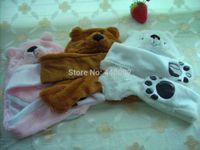 Wholesale Polar Bear Animal Hats - Wholesale-Cartoon Animal Cosplay Polar Bear Warm Mask Cap Hat Beanie Earmuff Scarf Gloves 3 styles, Free shipping EMS, Wholesale 100PCS