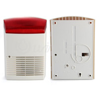 Wholesale External Siren - Wired External Outdoor Siren Strobe for Security Alarm System Red