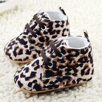 Wholesale Leopard Baby Girl Boots - children shose 2015 winter girls leopard cute baby shoes   soft shoes   toddler shoes,6pair lot,dandys