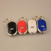 2017 Мода Smart Activly Trackers Anti-Lost LED Key Finder Поиск Locator Keychain Whistle Beep Sound Control Torch