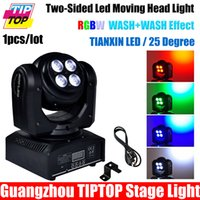 Gros-TIPTOP Lampe LED TP-L651 Moving Light Chef du parti d'Éclairage Double Face tournant sans fin RGBW LED faisceau DJ Mini Controller