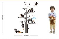 Vinyl squirrel decal - New Cute Owl Squirrel Bird Tree Removable Wall Stickers for Kid Nursery Baby Animal Decor beautiful Decal
