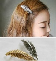 Wholesale Acrylic Hair Ornaments - 2015 Promotion Time-limited Acrylic Gift Anniversary 1 F2022 High-end Hair Ornaments Head Retro Styling Toba Alloy Hairpin Spring Clip Bangs