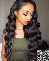 Wholesale hair strap baby resale online - Glueless Density Body Wave Lace Frontal Wigs Human Hair with Baby Hair Brazilian Remy Hair Lace Wig with Adjustable Strap