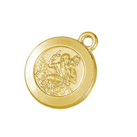 Charms st christopher pendant - 50pcs a Zinc Alloy Antique Silver Gold Floating Religious St Christopher Patron Pendant RomanticCharms For Gift University DIY Jewelry