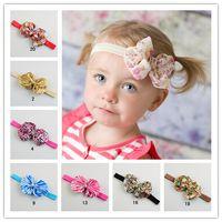 Wholesale Girl Zebra Accessories - Christmas Mix colors baby headbands elastic leopard zebra bow girls headbands kids head bows children hair accessories 30pcs n852