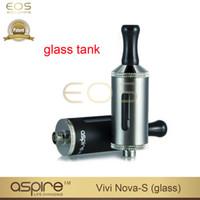 Wholesale Bottom Coil Tank Cartomizer - Wholesale-original aspire Vivi Nova S Atomizer pyrex glass tank bottom dual coil glassomizer Cartomizer BDC vivi nova-s Clearomizer free