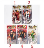 Wholesale Neca Street - 5 Styles NECA Player Select Street Fighter IV Survival Model Ken Ryu Guile Action Figure Toy