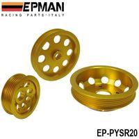 rollengewichte groihandel-EPMAN LEICHTE KURBELRIEMENSCHEIBE Für Nissan SILVIA S14 S15 SR20 RIEMENSCHEIBE EP-PYSR20 H. Q. AUF LAGER