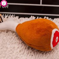 peluş tavuk oyuncakları toptan satış-Sıcak Satış Pet Oyuncak Tavuk Peluş Dolu Pamuk Ses Squeaker Köpek Oyuncaklar JIA597