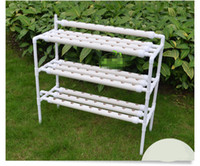 Wholesale Vegetable Equipment - DIY outdoor hydroponics garden center 90 pot 3 layers 10pcs pipes equipment balcony family vegetable box bowl aircraft machine