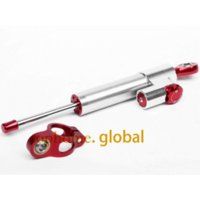 Wholesale Kawasaki Cnc Part - Motorcycle Accessories CNC Adjust Steering Damper Stabilizer Motor Steer Parts Silve Color For Kawasaki ZX9R 1998-1999