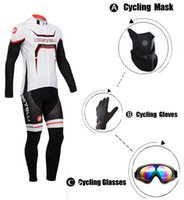 Wholesale-2015 NEU Mountain Bike warme Winter Thermal Cycling jersey Bike Bekleidung set + Gel Pad BIB lange Hosen / Maske / Pro-Handschuhe / Brillen