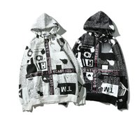 Wholesale Newspaper Sleeves - Early Autumn High Quality Clothing Hoodies High Street Fashion Style Men's And Women's Hoodie Emulated Newspaper Print Hoodie