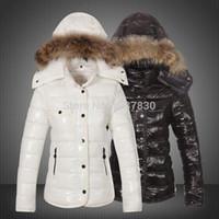 Wholesale Best Winter Fur Coats - Ladies Coat Women's Down Jacket Lady Down Parkas Winter Jacket Black Red White Gold Fur Collar ladies Down Coat Best Selling