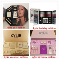 Wholesale Open Lips - Newest Kylie Lip Kit kylie jenner Velvetine Liquid Matte 12 Vault Makeup Big Box DO NOT OPEN UNTIL CHRISTMAS The Birthday Collection Gift