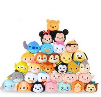 Puntadas De Juguete Baratos-50pcs / lot mini Tsum Tsum juguete de juguete muñeco muñeca Stitch Mermaid Sully Cute Elf Screen Cleaner para Juguetes
