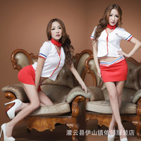 Wholesale Christmas Lingerie For Black Women - Sexy clothes Low Bosom Act As Policewoman or Sexy Sailor Suit School Uniforms Ladies Sexy Lingerie Uniform Temptation for Males High Quality
