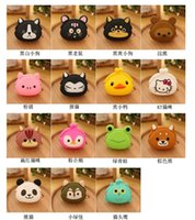 Wholesale Card Cute Design - best price 15 designs candy Cute Mini key Wallet bag Silicone Coin Purse lovely Animals Jelly Silicone Coin bag D430