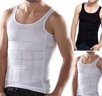 vücut şekillendirici gömlek erkek toptan satış-Seksi Kemerler Vücut Şekillendirme Erkekler Için Rahat Göbek Shaper Erkek Zayıflama Gömlek Ortadan Kaldırılması Bira Göbek Erkekler Vücut Shapewear