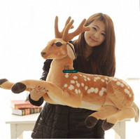 Wholesale New Baby Arrival - Dorimytrader New Arrival 35''   90cm Cute Stuffed Soft Plush Giant Emulational Animal Deer Toy, Nice Baby Gift, Free Shipping DY60649