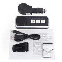 ingrosso bluetooth del diffusore del volante-Vivavoce Vivavoce Bluetooth Car Kit Bluetooth Altoparlante senza fili Altoparlante USB multipunto per cellulare Kit vivavoce per auto