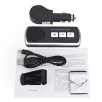 celular carro estéreo venda por atacado-Speakerphone Mãos Livres Bluetooth fone de ouvido Bluetooth Car Kit Speaker Sem Fio USB Speaker Multiponto para Celular Kit Mãos Livres Do Carro