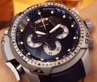 Wholesale Titanium Crystal Shape - Top Men's Sport Watches Chronograph Chronofighter Watch Men Black Dial Swiss VK Quartz Racing Titanium Rubber Watches Date Dive Wristwatches