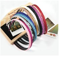 Wholesale Korean Headbands For Women - Korean jewelry girls headbands multicolor flash solid 8 colors women hair accessories 50pcs lot accessories for hair head accessories women