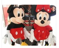 Wholesale-2pcs / lot 30cm Mini precioso Mickey Mouse y Minnie Mouse Los animales de peluche juguetes de peluche para el regalo de los niños X1074