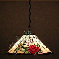 Wholesale Bohemia Pendant Lighting - Minimalist Retro Rose Pendant Lamp Stained Glass Rose Corridor Passage Stairs Rose Chandelier Living Room Bohemia Pendant Light
