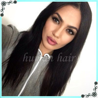 Wholesale Blonde Yaki Full Lace Wigs - 7A Full Lace Human Hair Wigs For Black Woman Italian Light Yaki Glueless Full Lace Wigs Virgin Human Hair Full Lace Wig