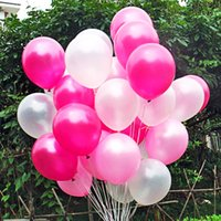 Wholesale Cheap Balloons Free Shipping - Wholesale-300pcs lot 10inch1.2g pcs cheap latex balloon balao rosa globo Pearl pink Wedding balao Party Birthday Baloon Free shipping