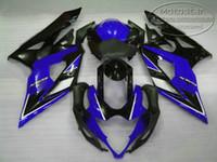 gsxr neue verkleidungen großhandel-100% neues Verkleidungsset für SUZUKI 2005 2006 GSXR 1000 K5 K6 GSX-R1000 Bodykits 05 06 schwarz blau Verkleidungen Set QF86