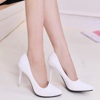 Wholesale Sexy Wedding Shoes Ivory - Hot Sales Women High Heels Sexy Fashion Wedding Shoes Pointed Toe High Heels Shoes Good Quality Women's Pumps Size 36-39 TZ0181