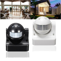 Wholesale Motion Sensor Light Detector Outdoor - Durable 12M 180 Degrees Auto PIR Motion Sensor Detector + Switch Home Garden Outdoor Light Lamp High Quality