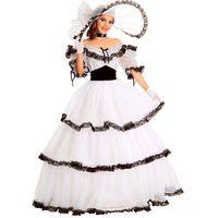 bürgerkrieg kleid xxl großhandel-Southern Belle Kostüm Viktorianisches Kleid Kostüm Adult Halloween Kostüme für Frauen Weiß Bürgerkrieg Kleid Ball Lolita Kleid Custom