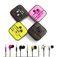 Wholesale ip earphone - Universal 3.5mm xiaomi metal earphone noise cancelling in-Ear headset earbuds with mic and volume control for Xiaomi Samsung HTC Ip LG