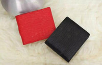 Wholesale Business Premiums - Luxury With Box logo Paris Premium Red Leather Slender Wallet X Red Wallet 17ss 45 Genuine Leather Outdoor Sport Bag