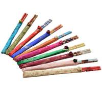 decoraciones de la cocina china al por mayor-Los mejores regalos Chopstick de Seda de seda china establece viajes artesanales de recuerdo de bambú palillos decoración cocina herramientas de cocina al por mayor