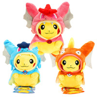 Wholesale pokemon toy balls - 9 Inch Poke Figures Plush Dolls Toys CM Styles Children Pikachu Charizard Slowpoke Poke Ball Plush Dolls Toy Cloak Pikachu OTH676